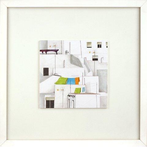 https://preciousart.de/Acrylgemälde moderne Stadtansicht, Titel Daecher 2, Rahmenformat Breite 32 x Hoehe 32 x Tiefe 3 cm