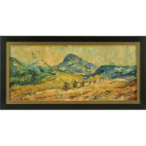 https://preciousart.de/Ölgemälde klassisches Landschaftsbild, Titel Sena,  Rahmenformat Breite 60 x Hoehe 31 x Tiefe 3 cm