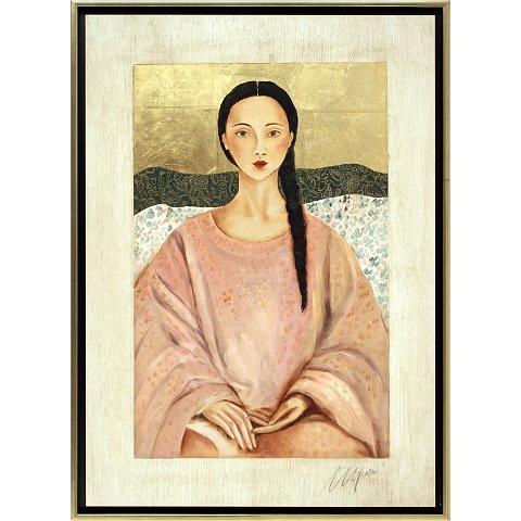 https://preciousart.de/Ölgemälde Portraitmalerei Titel Tibetische Frau 7, Rahmenformat Breite 75 x Hoehe 78 x Tiefe 4 cm, Preis 3110 EUR
