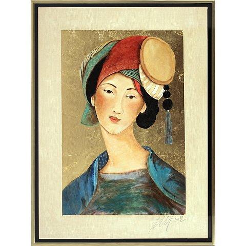 https://preciousart.de/Ölgemälde Portraitmalerei, Titel Tibetische Frau 8, Rahmenformat Breite 75 x Hoehe 78 x Tiefe 4 cm, Preis 3110 EUR