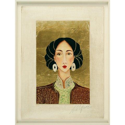 https://preciousart.de/Ölgemälde Portraitmalerei, Titel Tibetische Frau 9, Rahmenformat Breite 46 x Hoehe 60 x Tiefe 4 cm , Preis 2180 EUR