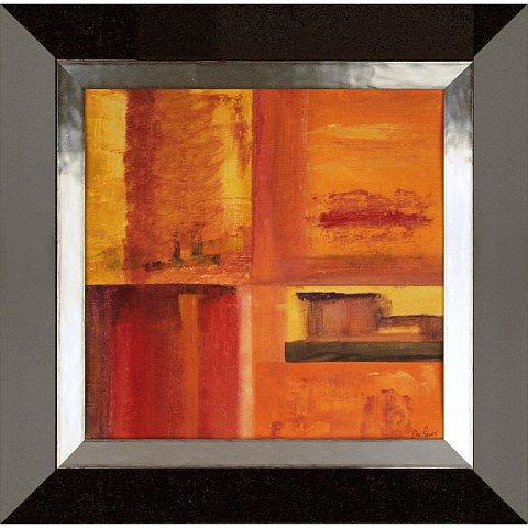 https://preciousart.de/Farbintensives Ölgemälde abstrakte Malerei, Titel transformacion 3, Holzrahmen Trapezform, Rahmenformat Breite 56 x Hoehe 55 x Tiefe 3cm, wenge-silber