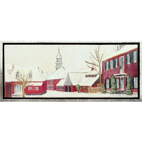 https://preciousart.de/Ölgemälde Stadtansicht Winter, Titel Parkstraat, Rahmenformat 53 x 23 x 4 cm