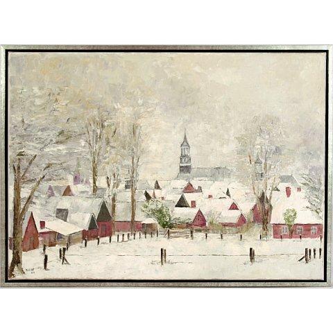 https://preciousart.de/Ölgemälde Stadtansicht, Titel Winter in de stad, Rahmenformat 53 x 73 x 4 cm, Preis 2000 EUR