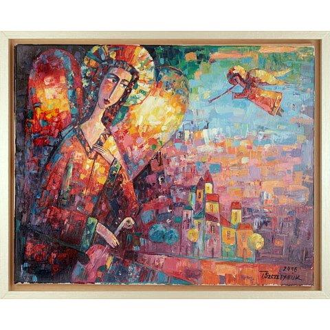 https://preciousart.de/Ölgemälde kubistisch, Titel musizierender Engeln, Rahmenformat Breite 55 x Hoehe 45 x Tiefe 4 cm,